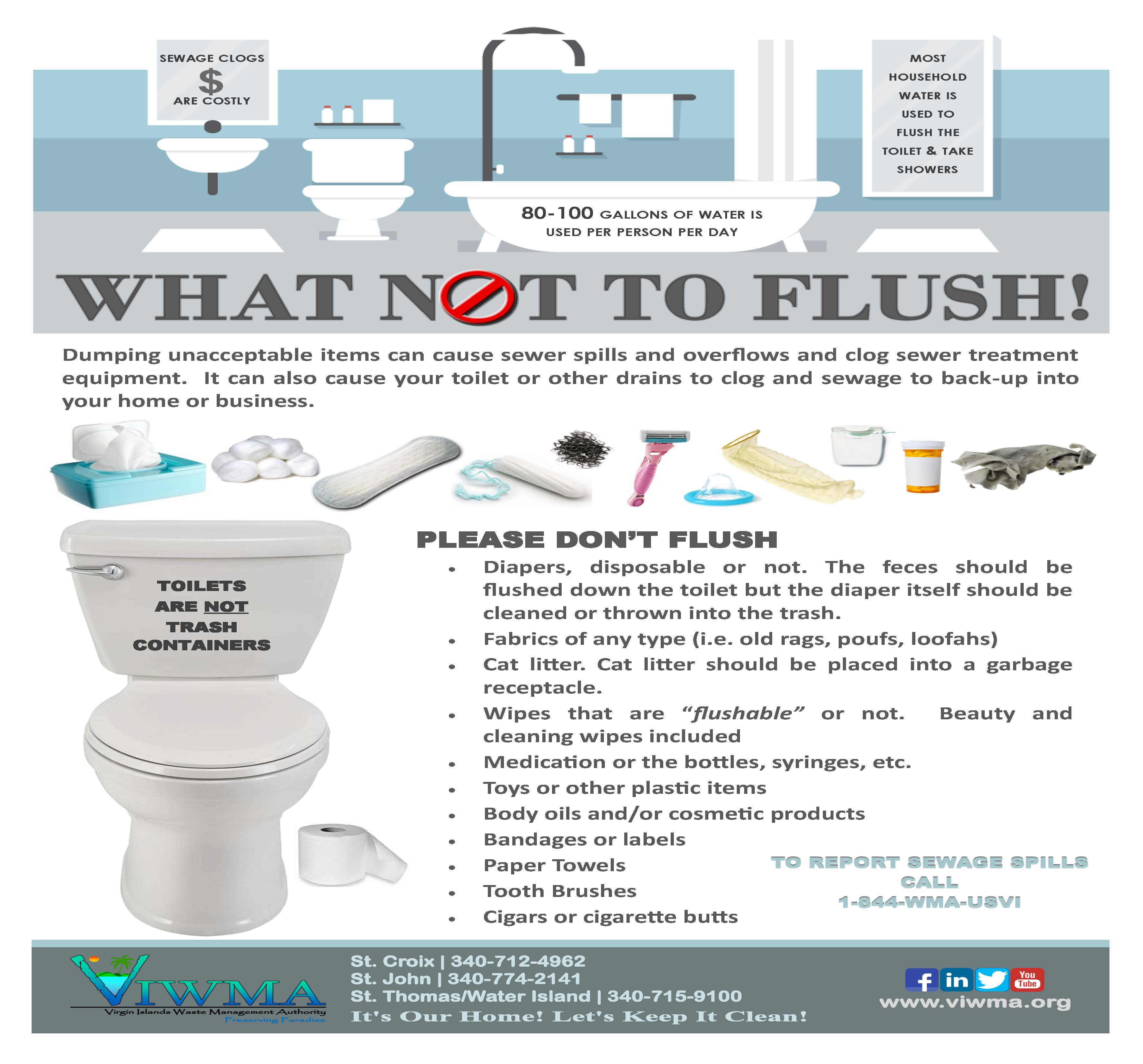 what not to flush flyer